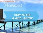 How to Fix a Wet Laptop