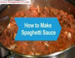 How to Make Spaghetti Sauce